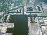 名古屋の⽊材港写真005